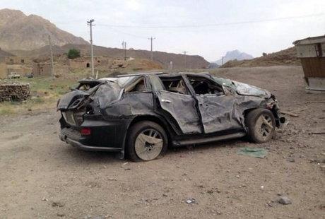 نابودی 6 لکسوس در مسیر تهران (تصاویر)