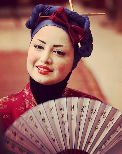 25239 430 گریم شیلا خداداد در نقش زن آسیای شرقی