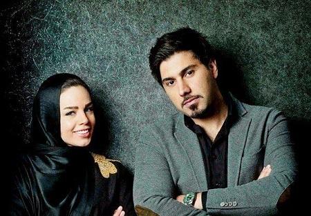 احسان خواجه امیری و همسرش (عکس)