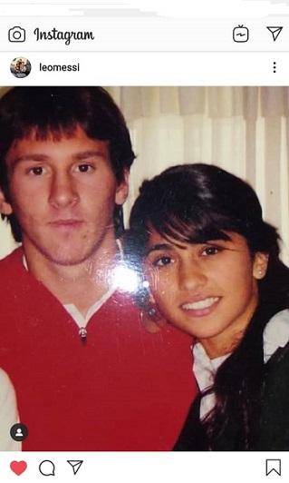 تصویری جالب از لیونل مسی و همسرش در دوران نوجوانی(اینستاپست)