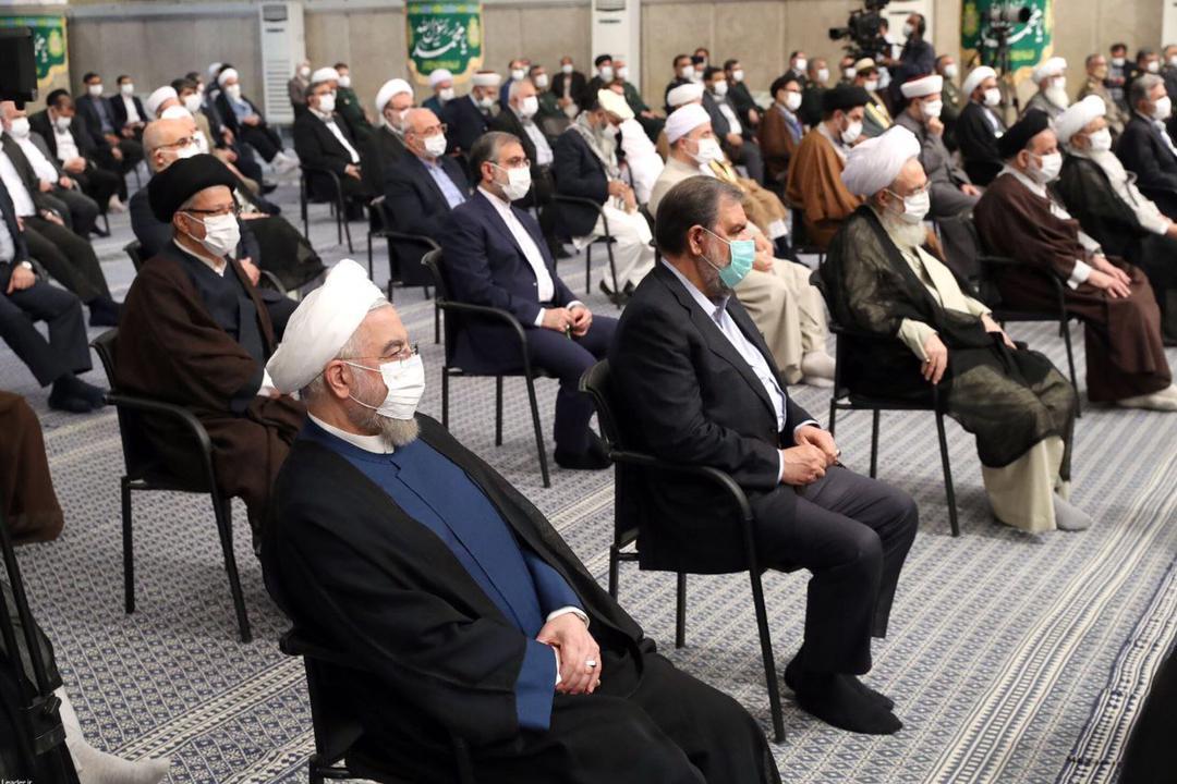 حضور روحانی در دیدار امروز مسئولان با رهبر انقلاب(عکس)